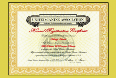 UCA Kennel Name Certificate